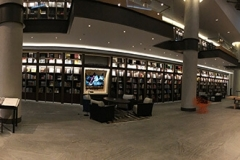 The members' library on the fifth floor