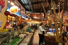 Fresh seafood and produce