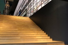 A few stairs; a few books