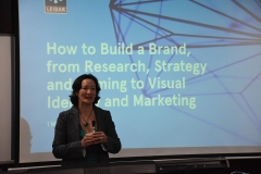 Talking about branding to the MBA students